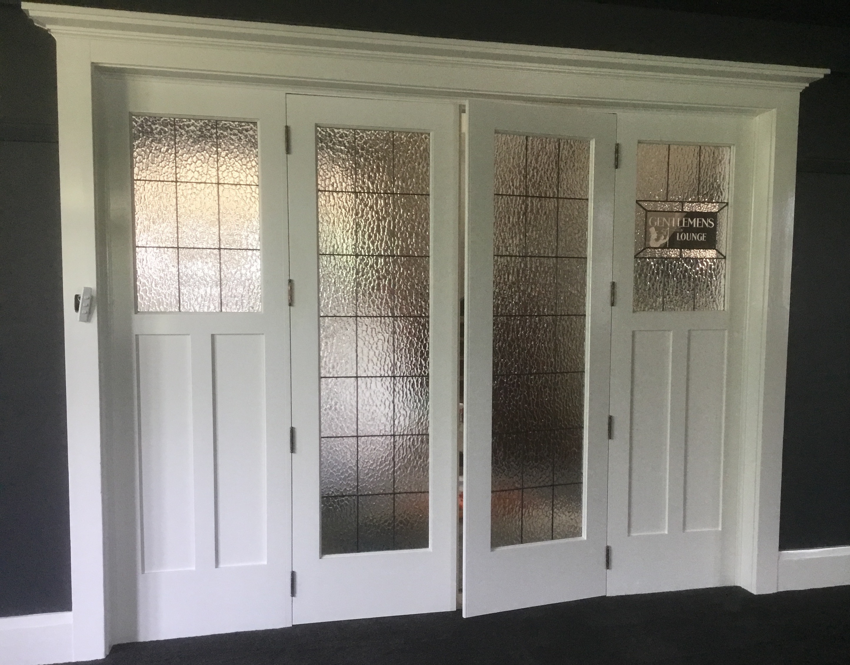 Internal feature doors