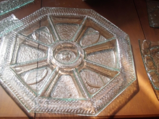 slumped glass platter