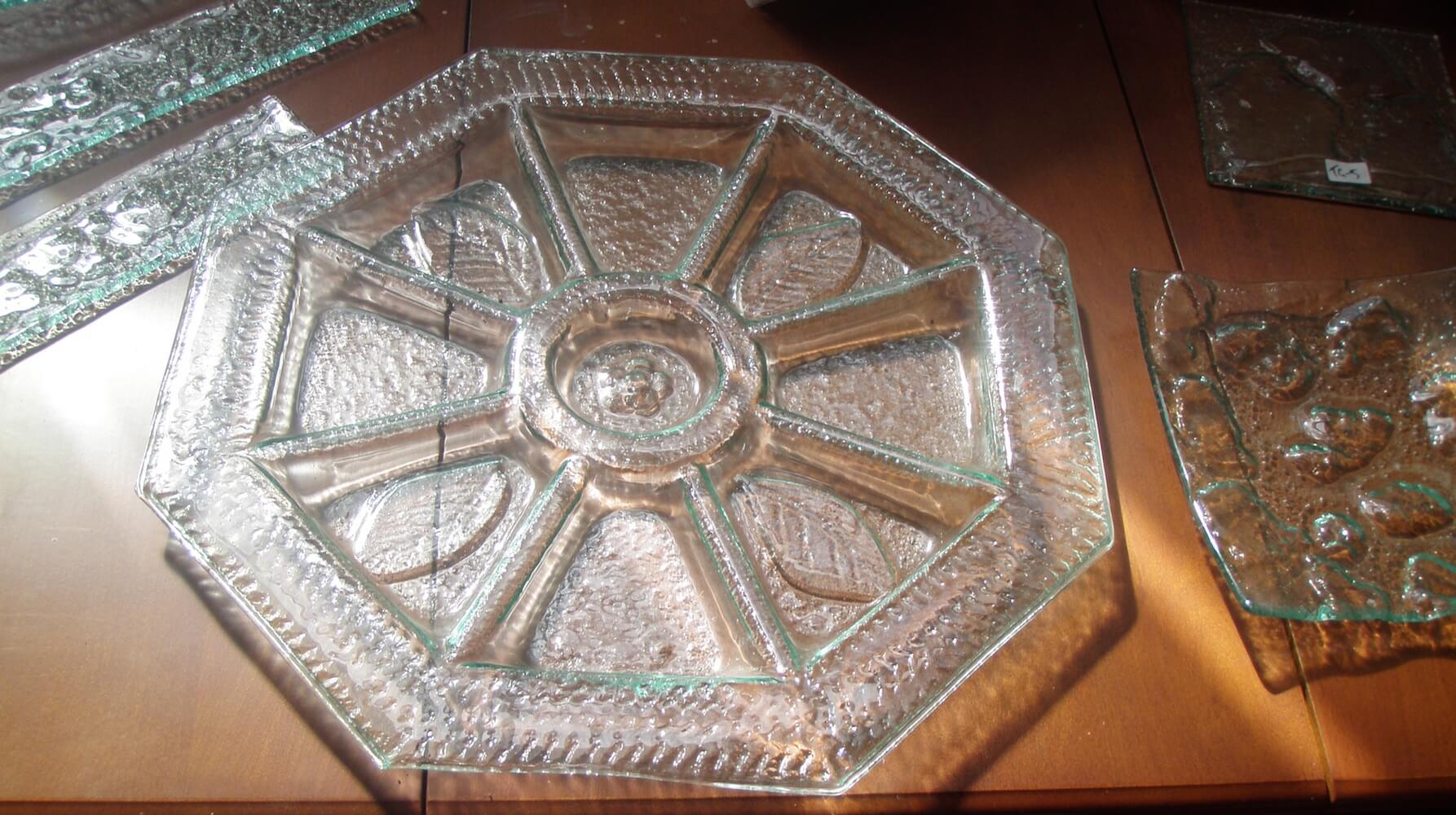 slumped glass platter