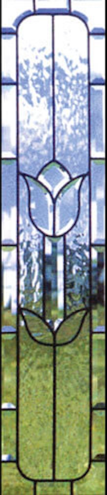 Crystal Tulip bevelled glass window