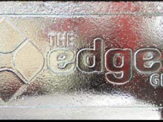 the Edge slumped glass art