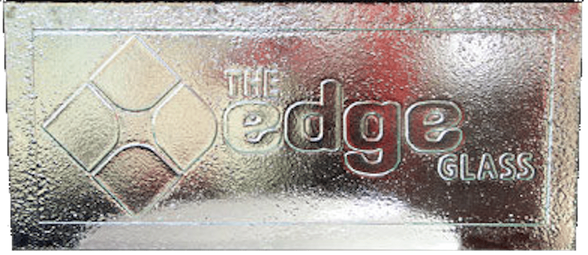 the Edge slumped glass art